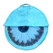 Mavi dans çantası siyah su geçirmez çanta bale tutu pembe tuval esnek ve katlanabilir yumuşak bale çantası bale tutus için fermuarlar