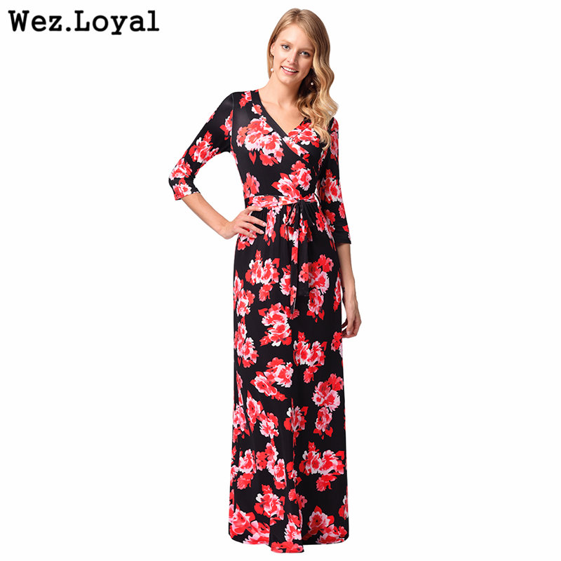 0fc6ae730b Loyal Vintage Retro Long Dress Boho 2018 Autumn African Maxi Long Dresses  Floor Length Elegant Women Dress Skater Vestidos