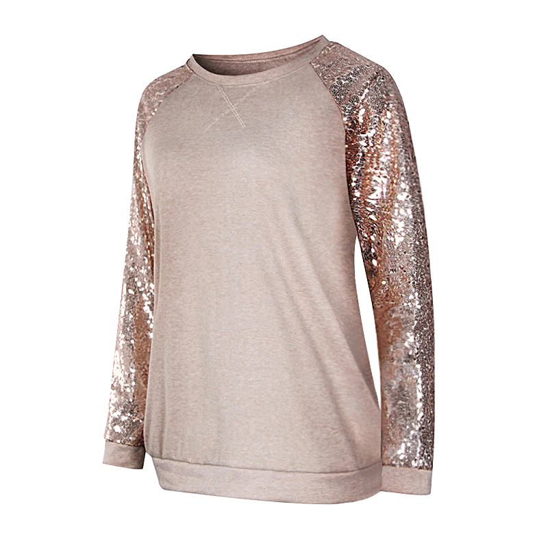 Sequin Long Sleeve T-Shirt 1