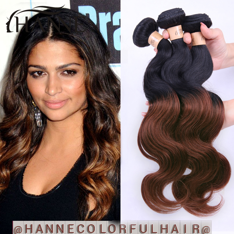 Ombre Malaysian Hair Body Wave 2 Tone 1b33 Colored Dark Brown Body