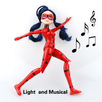 Miraculous Ladybug And Cat Noir Juguetes Toy Doll Lady Bug Adrien Marinette Plagg Tikki Plastic PVC