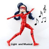 Miraculous Ladybug And Cat Noir Juguetes Toy Doll Lady Bug Adrien Marinette Plagg Tikki Plastic PVC