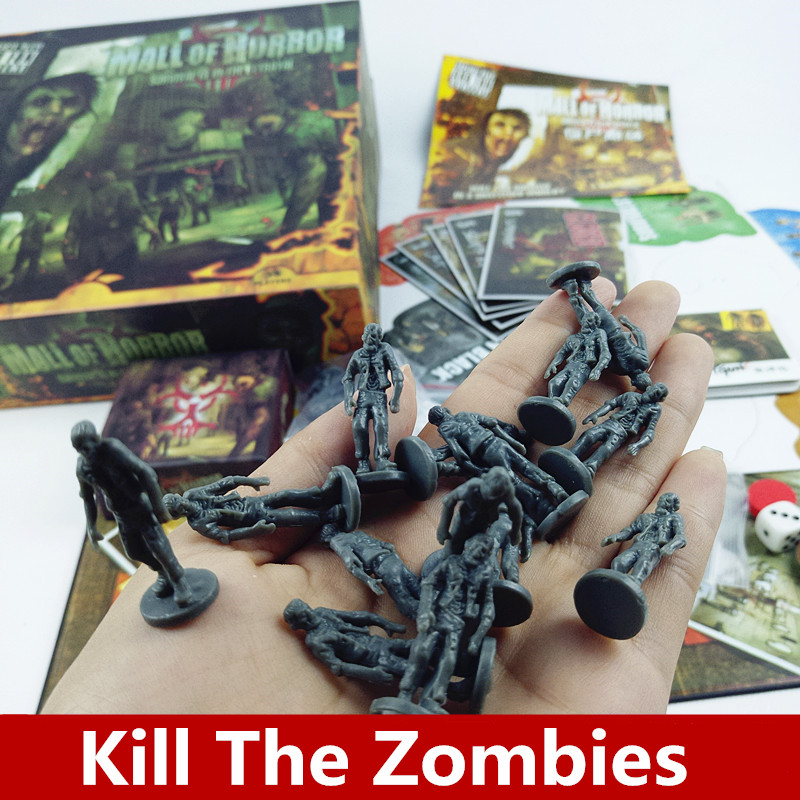 Mall of Horror Board Game High Quality 3-6 Players Zombies Survival Model Game party family indoor games ...