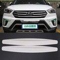 4 pcs Branco New Universal Fit Front & Rear Bumper Protector Canto Guarda Zero Adesivo