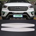4pcs White New Universal Fit Front&Rear Bumper Protector Corner Guard Scratch Sticker