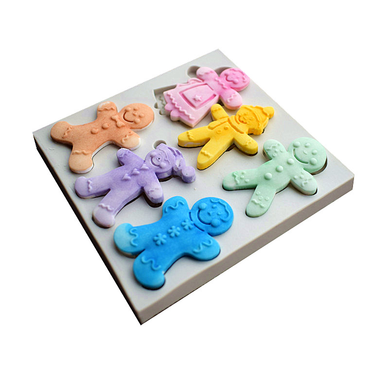 6 Cookies Dolls Silicone Molds, Christmas Sugar Cake Molds, Cake - Kitchen, Dining and Bar - Photo 3