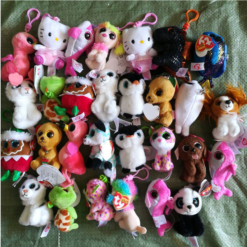 20pcs Mix 15cm Ty Beanie Boos Gilda the Flamingo Bird kangaroo Dinosaur Plush Stuffed Animal Collectible Big Eyes Plush Doll Toy ty frizzy домовёнок tang 15 см 37138