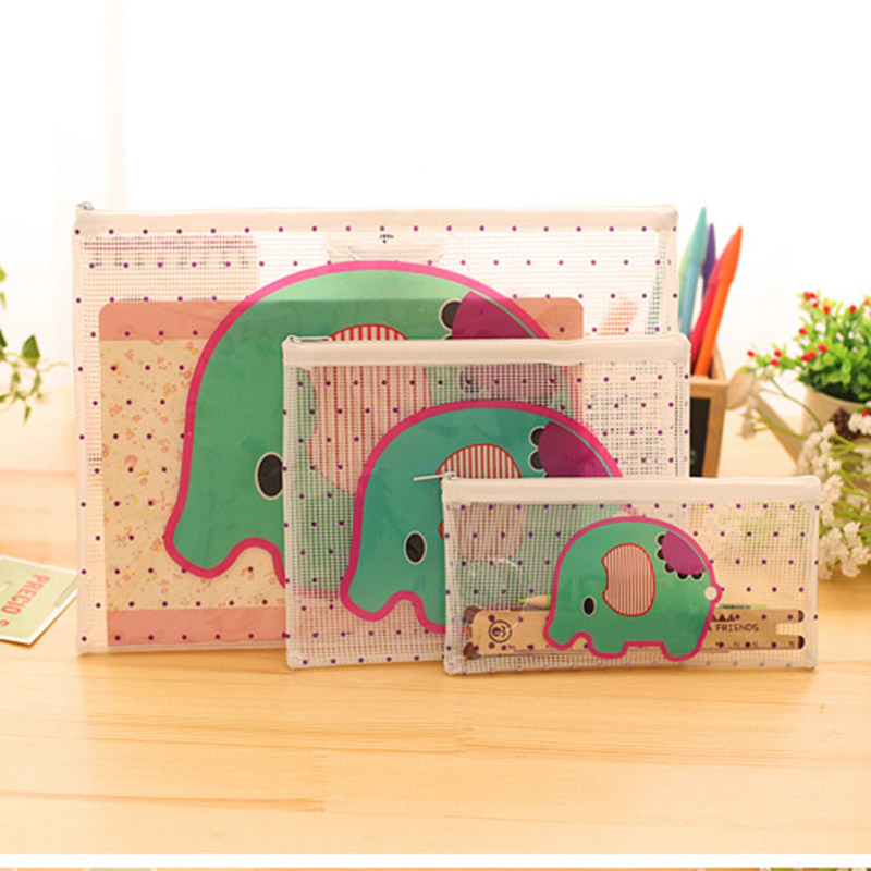 Cute Elephant  Women Cosmetic Bags Travel Organizer Necessary Beauty Case PVC Toiletry Bags Makeup Bag Bath Wash Make Up Bag