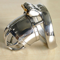 CB6000S device stainless steel metal cock cage male chastity devices for men penis bondage lock bdsm sex products arc-ring