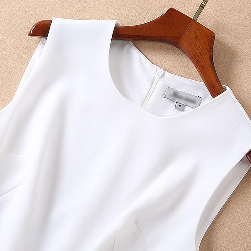 Haute Mode Partie Blanc D'été Qualité Chic Élégant Robe Vintage Nouvelles Gilet Irrégulière Sexy Travail De Designer Femmes Piste 2019 Twqxztfv