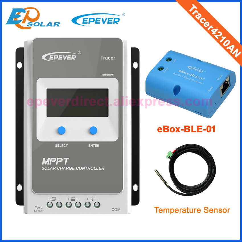 Tracer4210AN 40A MPPT solar charge controller with BLE fnction and temperature sensor polar speed sensor ble gen