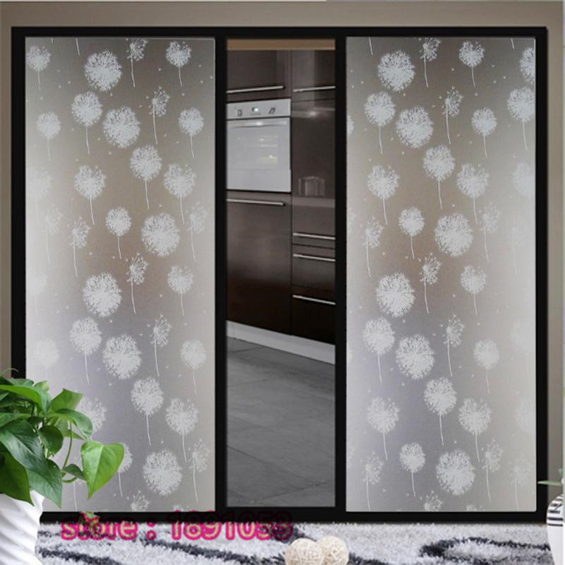 Dandelion PVC Film Stickers Frosted Glass Bathroom Toilet Living Room Window  Privacy Glass Sliding Door Stickers Decorative In Decorative Films From  Home ...