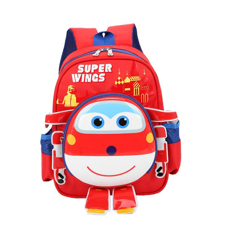 Hot Superwings Three-dime School Bag Children Boys Backpacks Kindergarten Backpack For Girls Kid Cartoon School Bag For Kids