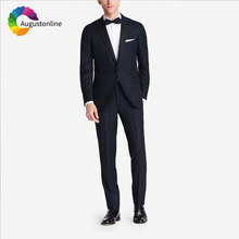 Navy Blue Men Suits for Wedding Suits Best Man Blazers Jacket Peaked Lapel 2Piece Slim Fit Groom Tuxedos Tailored Groomsmen Suit блендер midea mc bl401