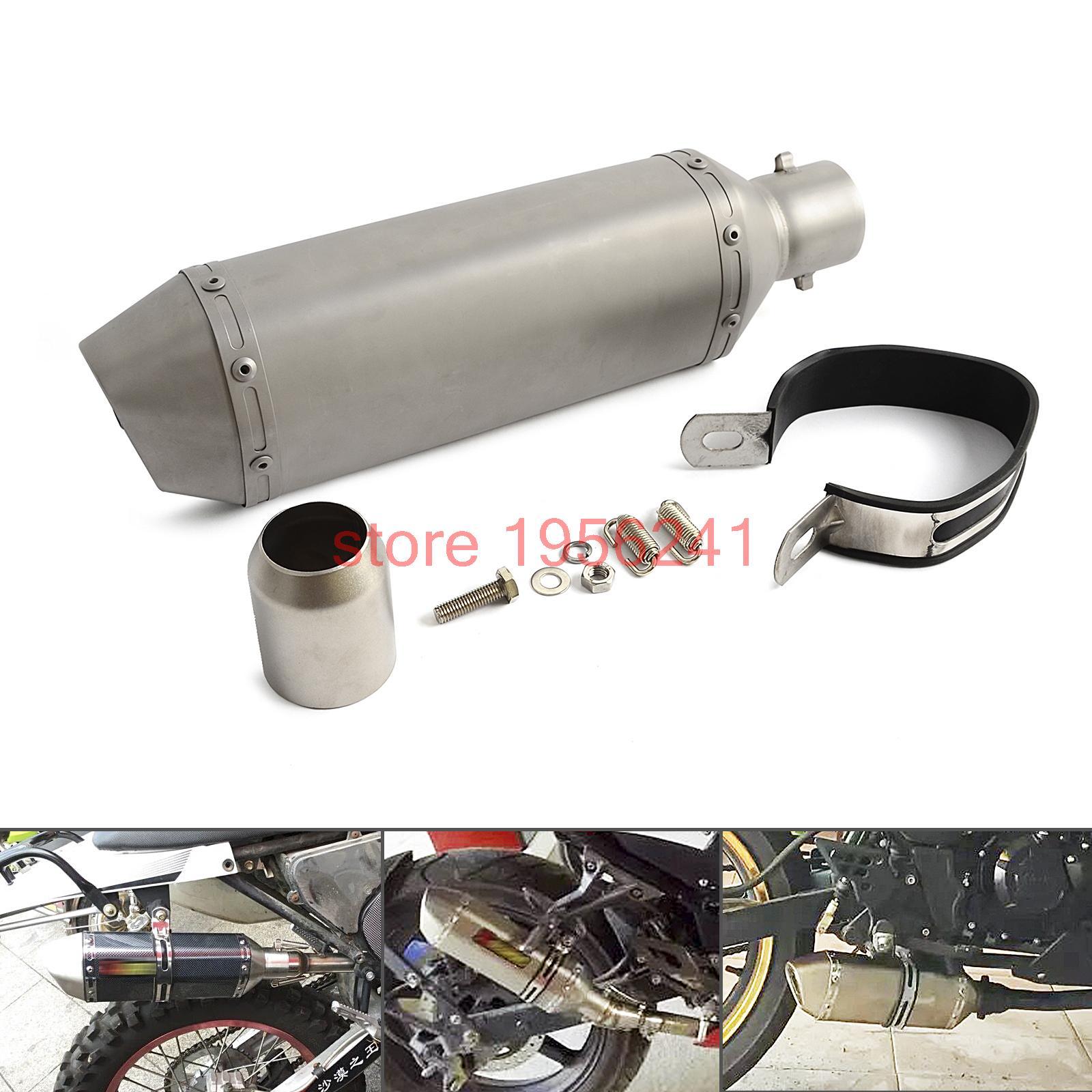 ФОТО 38-51mm Motorcycle Exhaust Muffler Vent With Removable DB Killer Street Bike Dirt Bike Scooter ATV new