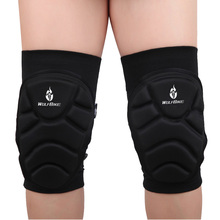 2Pcs Wolfbike Breathable Elastic Knee Pads Football Basketball Sports Leg Sleeve Kneepad Protector S/M/L
