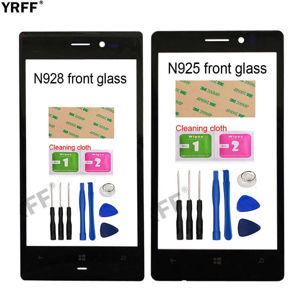 زجاج خارجي لهاتف Nokia Lumia 4.5 928 925 N928 N925 لاستبدال اللوحة الزجاجية الأمامية