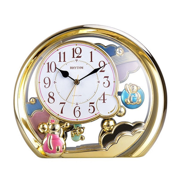 100% new and high quality Exquisite Cute Mini Bear Silent Jumping Movement Table Clock  Alarm clock Gold Frame Children's gifts