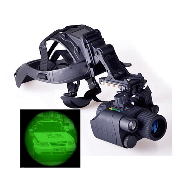 Free Shipping! Gen1 1X24/3X44 Infrared night vision monocular IR Goggles Monocular+Hand Free Head Mount Kit #NV550 rg 55 1x24 head mounted night vision scope night vision googles night vision goggles infrared goggles