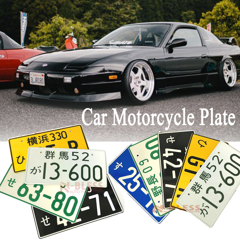 """50 BLANK BLACK WHITE GLOSSY LICENSE PLATES ALUMINUM 6/""""x12/"""" NEW TAG FOR CAR TRUCK"""