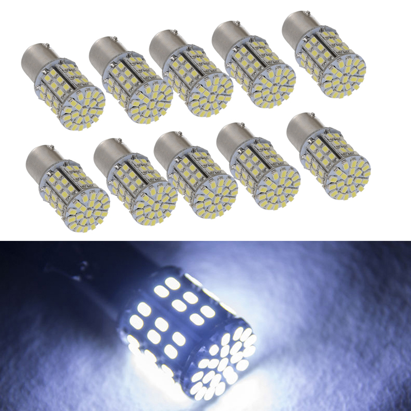 10X Super White 64 SMD LED 1156 1141 1003 RV Camper Trailer Interior Light Bulbs Turn Signal Light Stop light new