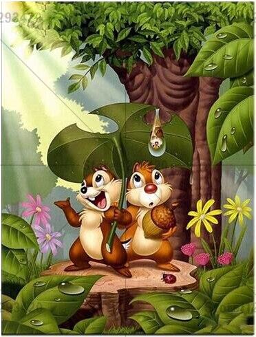 Nuova pittura diamante diy cartone animato scoiattolo punto croce