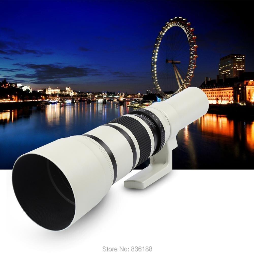 JINTU 500mm F6.3 lente súper teleobjetivo para Sony NEX e mount NEX3 NEX5 NEX7 A5100 A6000 A6300 A6500 a7 A7R A7RII A7S A9 SLR Cámara-in Lente de cámara from Productos electrónicos    1