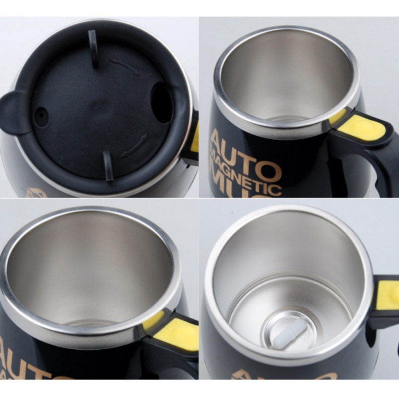 Stainless Steel Automatic Mixing Coffee Cup With Lid Self Stirring Protein Cup Shaker Smart Mixer Blender Cup