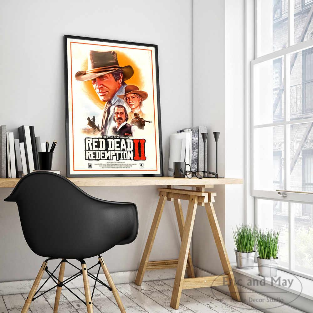 Rouge mort rachat 2 jeu vidéo mur Art toile peinture affiche pour la décoration intérieure affiches et impressions images décoratives sans cadre
