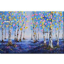 large size whosale 100% Hand Painted abstract Tree Landscape Oil Painting on Canvas Abstract Pictures Wall Decor For Living Room