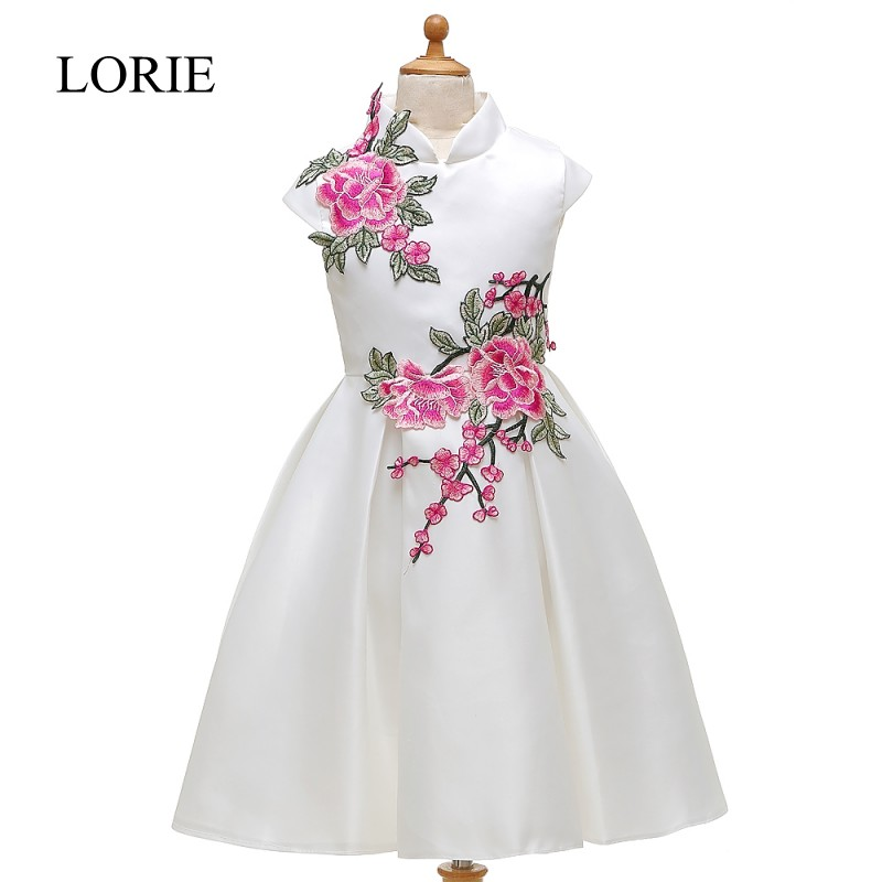 Ivory   Flower     Girl     Dresses   For Weddings Vestidos Primera Comunion 2016 First Communion   Dresses   For   Girls   High Neck Pageant Gowns