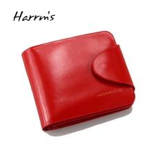 Kostenloser Versand Klassische frauen geldbörsen kurz Hochwertige Echtes Leder brieftasche für frauen Rindsleder rot Farbe Geldbörse mit münze poc