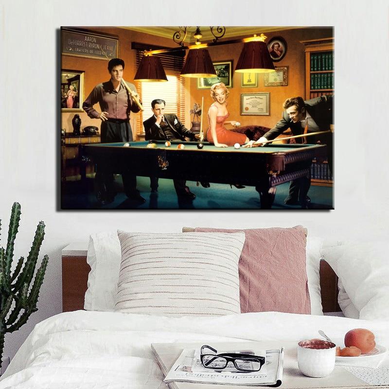 Modern Classic Poster Canvas Painting Elvis Presley, Humphrey Bogart, - Heminredning - Foto 4