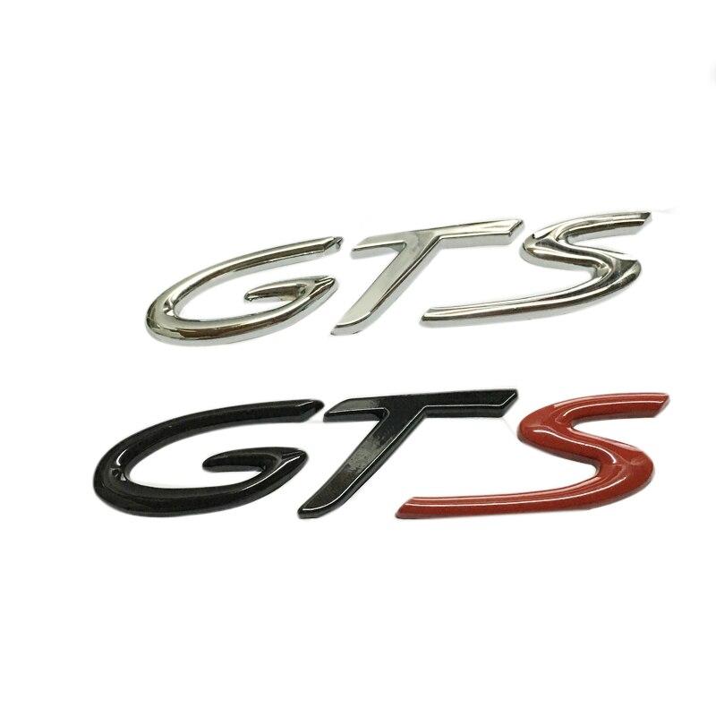 BNSJ автомобилей стайлинг ГТС наклейка эмблема для Porsche 911 Cayenne на Каймановы 3Д хром глянцевый металл ГТС задний багажник эмблема наклейка