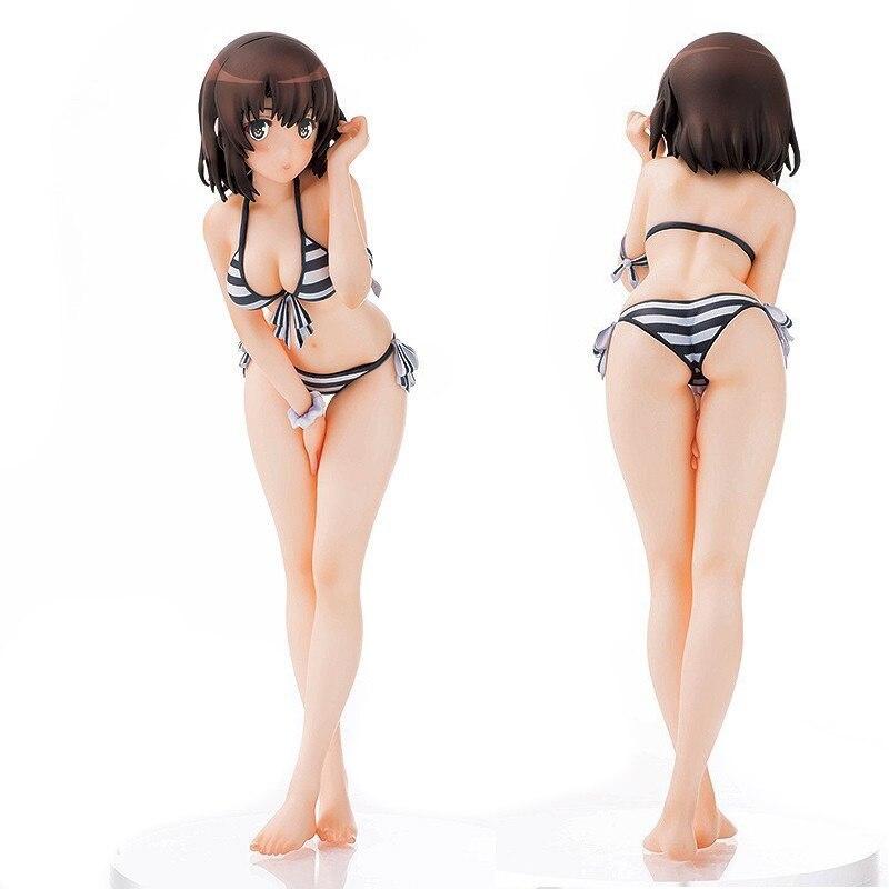 JAPAN Anime Saenai Heroine No Sodatekata Megumi Katou Megum KATO Sexy Action Figure PVC Swimsuit bikini girl Collection toys