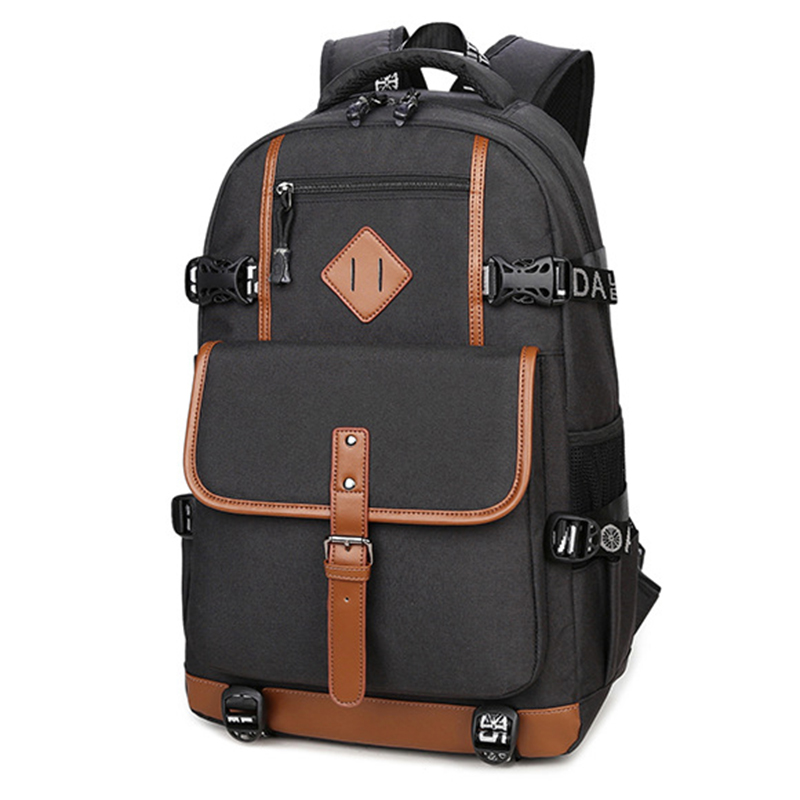 Canvas School Bags Backpack For Teenagers Student Travel Waterproof Vintage Back Pack Laptop 15.6 Men's Backpacks Bolsa Mochila new canvas bag men backpack 15 inch laptop notebook school backpack bags for teenagers mochila for feminina waterproof back pack