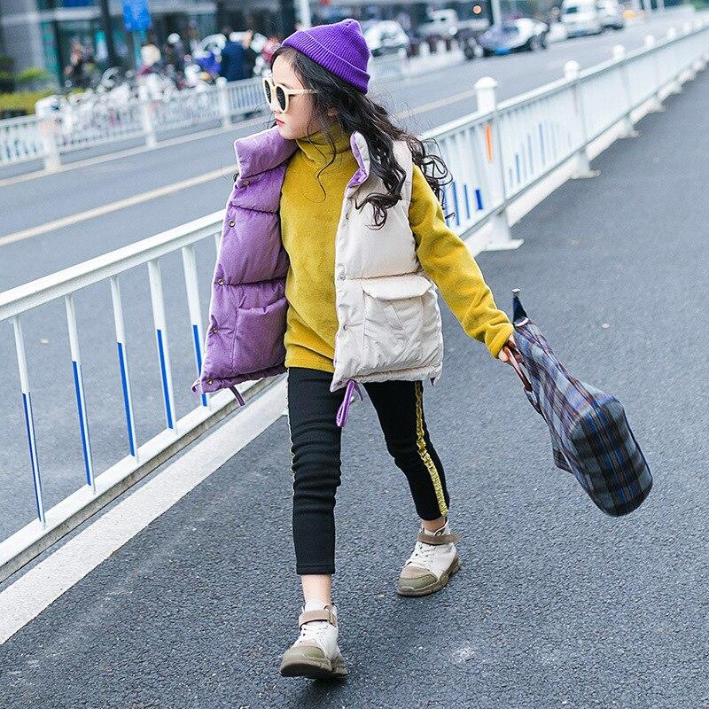 Baby Mädchen Gold Samt Weste 2018 Neue Winter Koreanische Version Der Warme Große Kinder Verdickt Unten Stepp Jacke Schrumpffrei