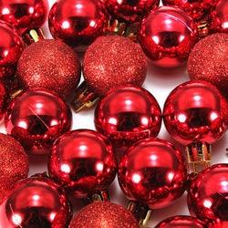 HOT SALE 24Pcs Chic Christmas Baubles Tree Plain Glitter XMAS Ornament Ball Decoration Black 3