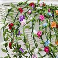 Новое 8 шт./лот невесты повязка на голову цветок Boho женщины леди девушка цветочный фестиваль свадебный венок волос руководитель группы головные уборы Hairband