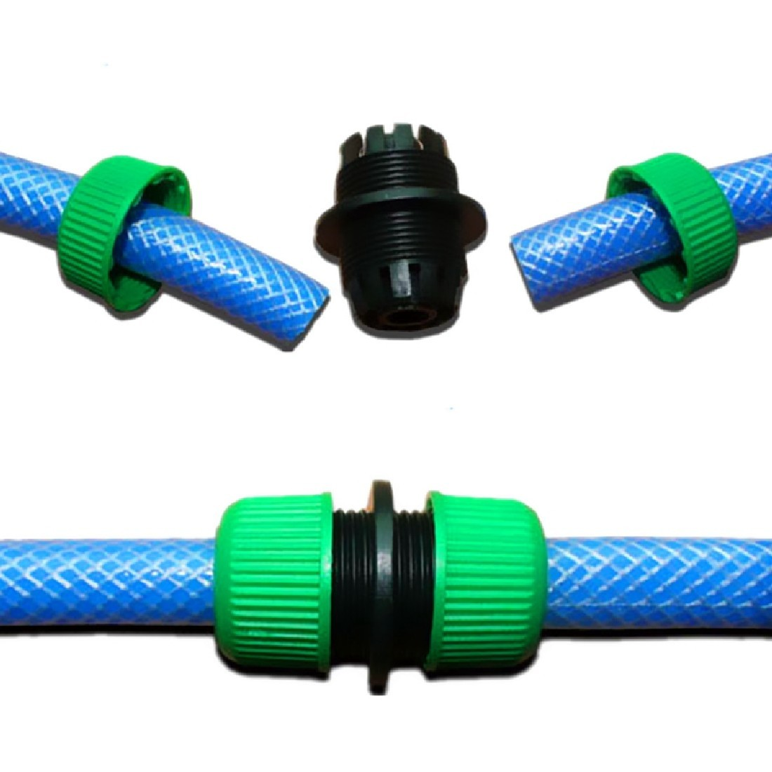 New 1/2 Garden Water Hose Connector Pipe Quick Connectors Joining Mender Repair Leaking Joiner Connector Adapter
