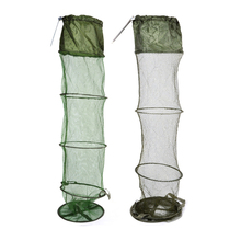 5 Layers Fishing Net Cage Utility Folding Portable Stake Small Mesh Durable Fish Care Creel Tackle