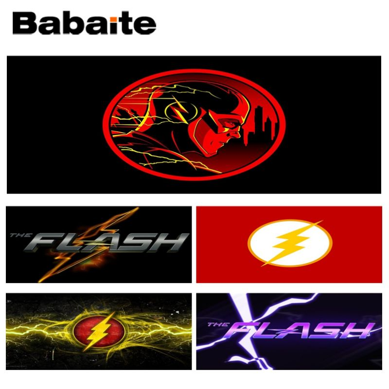Babaite The flash logo Laptop Computer Lockedge Mousepad Size for 30x90CM Speed Version Gaming Mousepads ...