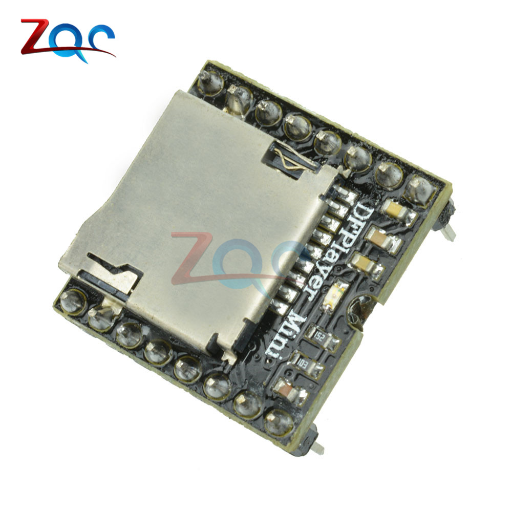 1pcs DFPlayer Mini MP3 Player Module MP3 Voice Module for Arduino DIY Supporting TF Card and USB Disk dhl free 100pcs lot mini mp3 player module dfplayer mp3 tf 16p support mp3 wav wma tf card fat16 32 with simplified output