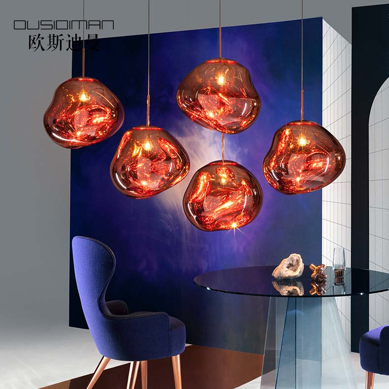 Aspiring Tom Dixon Nordic Pendant Light Living Room Bedroom Lava Glass Ball Pendant Lamp Luminaria Kitchen Fixtures Lights Luminaire Ceiling Lights & Fans