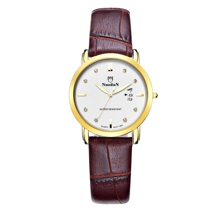 Nuodun Simple Wrist Watches 2016 Fashion Watch Women Waterproof Ladies Dress Quartz Watches Fashion Clock Relogio