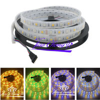 5M 5050 RGBWW RGB+warm white 300 led strip light IP67 Silicon Tube waterproof 100M