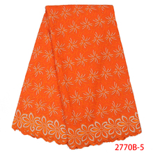 Швейцарская вуаль кружева ткани Горячая африканская хлопчатобумажная кружевная ткань высокого качества нигерийская вышивка кружева для свадьбы KS2770B-5