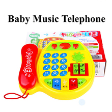 Free shipping Creative Educational learning telephone children s font b toys b font multifunction music phone