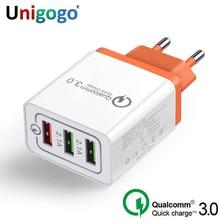 Szybkie ładowanie 3.0 USB ładowarka ue wtyczką amerykańską ładowania QC3.0 szybkie ładowanie 3 Port ładowarka ścienna dla iPhone Samsung xiaomi Huawei
