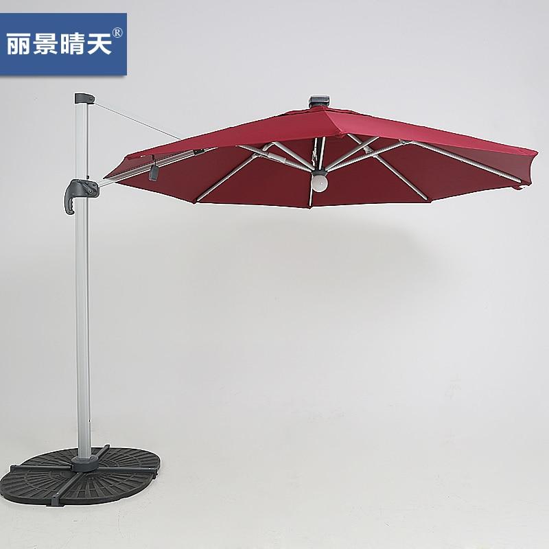 solar lighted umbrellas rome umbrella 3 m outdoor garden patio china. Black Bedroom Furniture Sets. Home Design Ideas